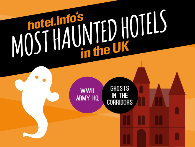 infographic design - haunted hotels UK