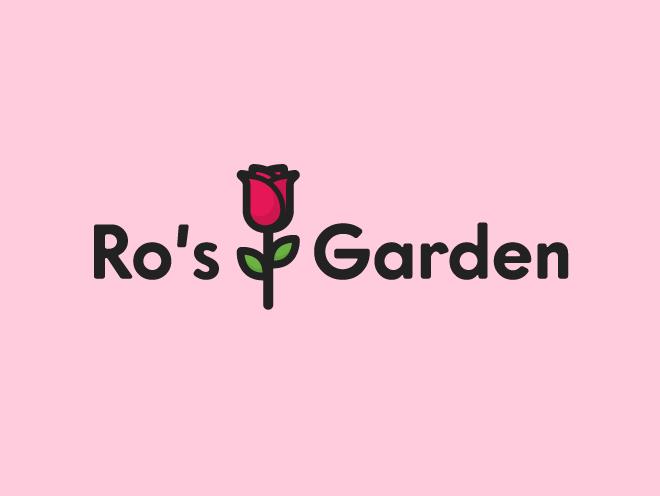 logo design - ro's garden