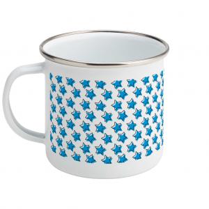 star pattern enamel mug
