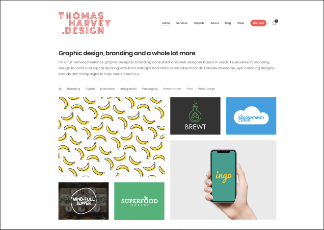 Thomas Harvey Design New Website