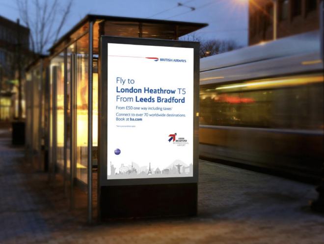 billboard design - Leeds Bradford Airport