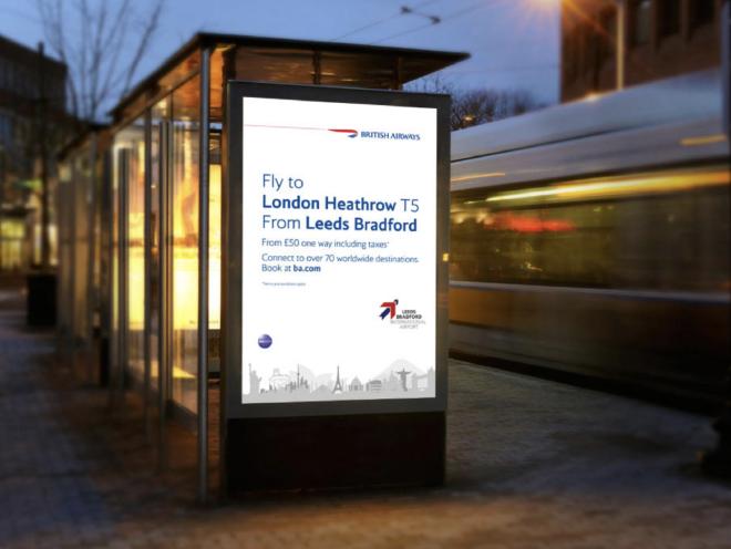 billboard design - Leeds Bradford Airport