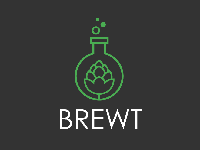 logo design - brewt craft beer