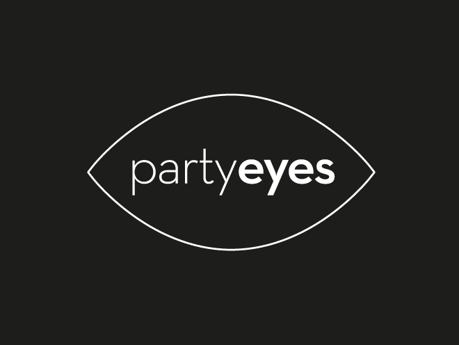 logo design - party eyes cosmetics