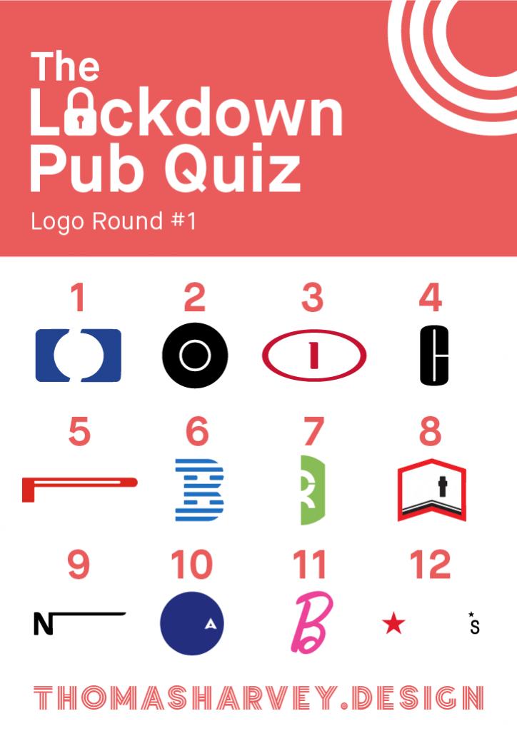 Lockdown Pub Quiz Logo Round 1